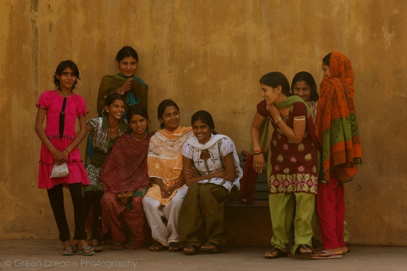 Girls - Amber Fort - Jaipur