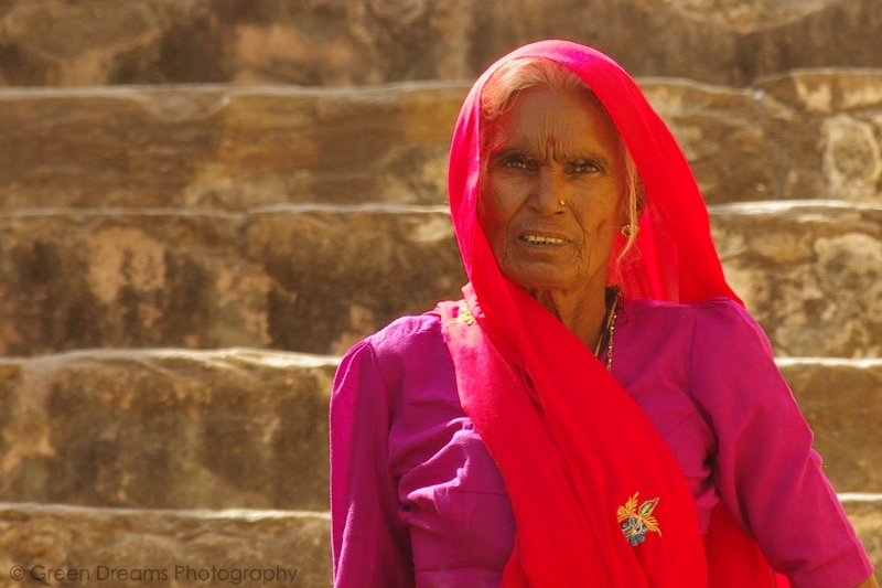 Portrait of a Lady - Amber Fort - Jaipur