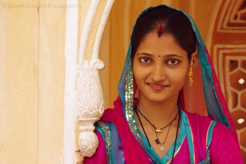 Portrait of a Girl - Hawa Mahal - Jaipur